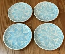Set of 4 Gray Viva Lace Cocktail Plates