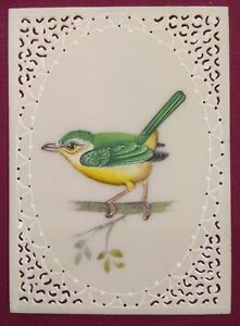 Hand-Painted-Sparrow-Art-Fine-Birds-Miniature-Painting-India-Art-Synthetic-Ivory