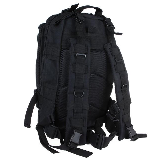 30L Outdoor Sports Military Tactical Backpack Rucksacks Camping Hiking Bag Black