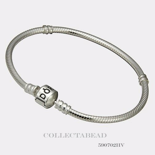 Authentic Pandora Sterling Silver Bracelet with Pandora Lock 8.3 590702HV