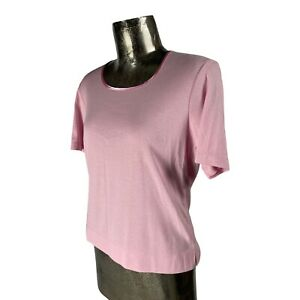 Poppy Cotton Pink Top T-Shirt NEW UK L 16 (EU44) Women's RRP £20
