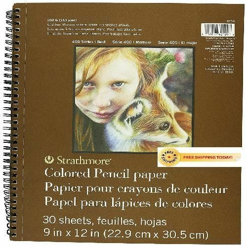 Strathmore Colored Pencil Spiral Paper Pad 9