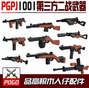 Militaire-WW2-SWAT-armes-guerre-2-Allemand-sovietique-MOC-arme-lot-de-blocs-de-construction-ville