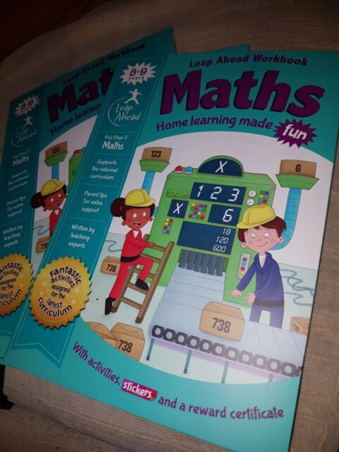 Leap Ahead: 8-9 Years Maths (Leap Ahead Workbook Expert) Paperback (2019) NEW