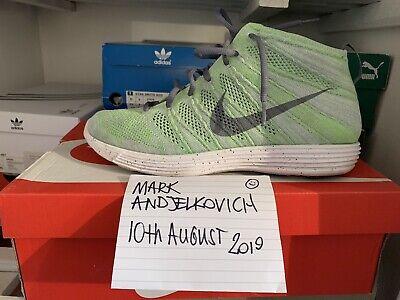 Nike Lunar Flyknit Chukka Electric Green Uk9   eBay