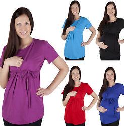 2 in 1 Stillshirt Umstands Shirt Top Bluse Stilltop Stillbluse Umstandsmode
