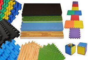 Interlocking eva mats gym exercise office garage kids play floor