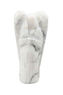 Nat/ürlicher Kristall Howlith Edelstein Engel Tasche W/ächter Figur Heilung Statue 2 Zoll