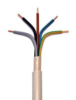 NYM-J 5x6mm² PVC Mantelleitung grau 50 Meter Ring