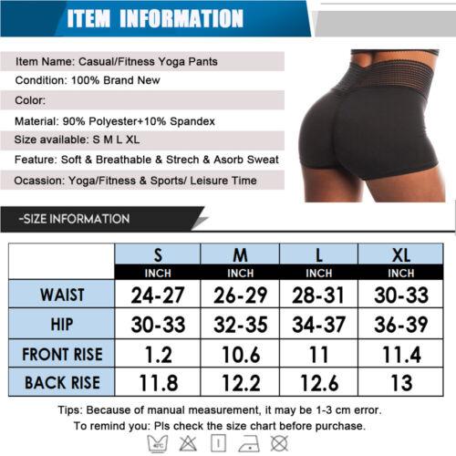 Women/'s Casual Running Sports Shorts Yoga Push Up Booty Gym Summer Hot Pants O85