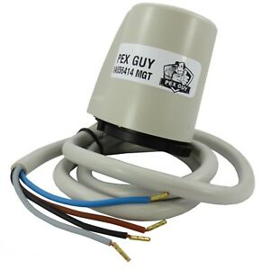 24V-PEX-GUY-4-wire-Thermostatic-Actuator-w-Auxiliary-Microswitch-Italy