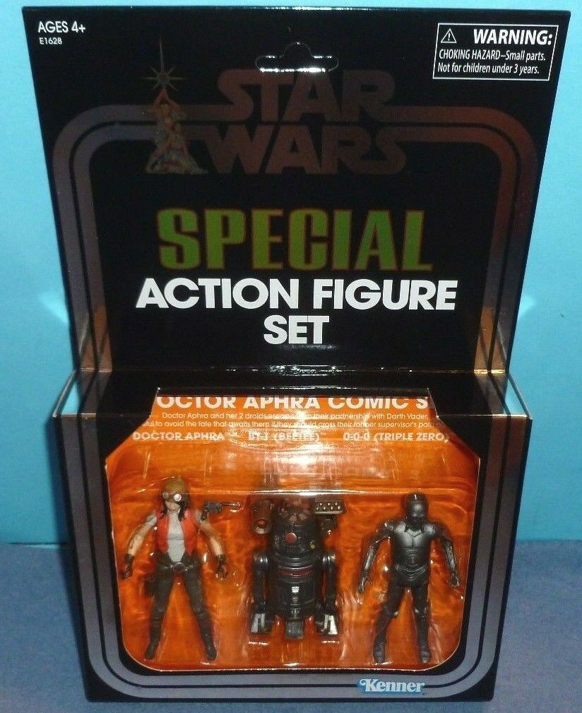 Star Wars Doctor Aphra Comic Figure Set SDCC 2018 Hasbro Exclusive