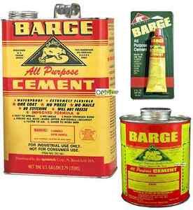 Details about BARGE AP All Purpose Contact CEMENT Rubber Leather Glue Shoe  Repair gallon quart