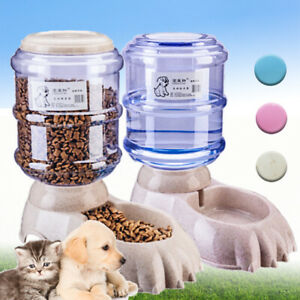 3-8L-Large-Automatic-Pet-Food-Drink-Dispenser-Dog-Cat-Feeder-Water-Bowl-Home-Hot