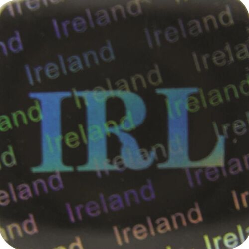 3D Hologramm Siegel Irland Sicherheitsetikett 12x12mm Garantiesiegel