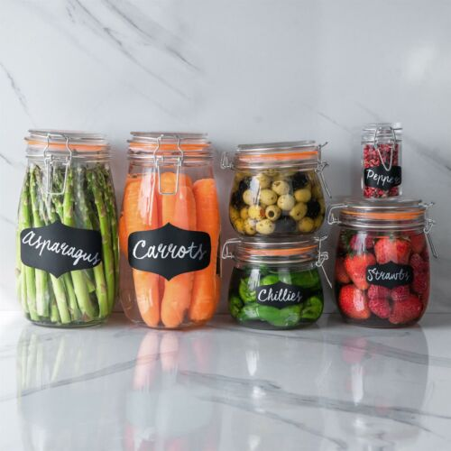 Glass Storage Food Preserve Preserving Clip Top Airtight Jar 500ml x1