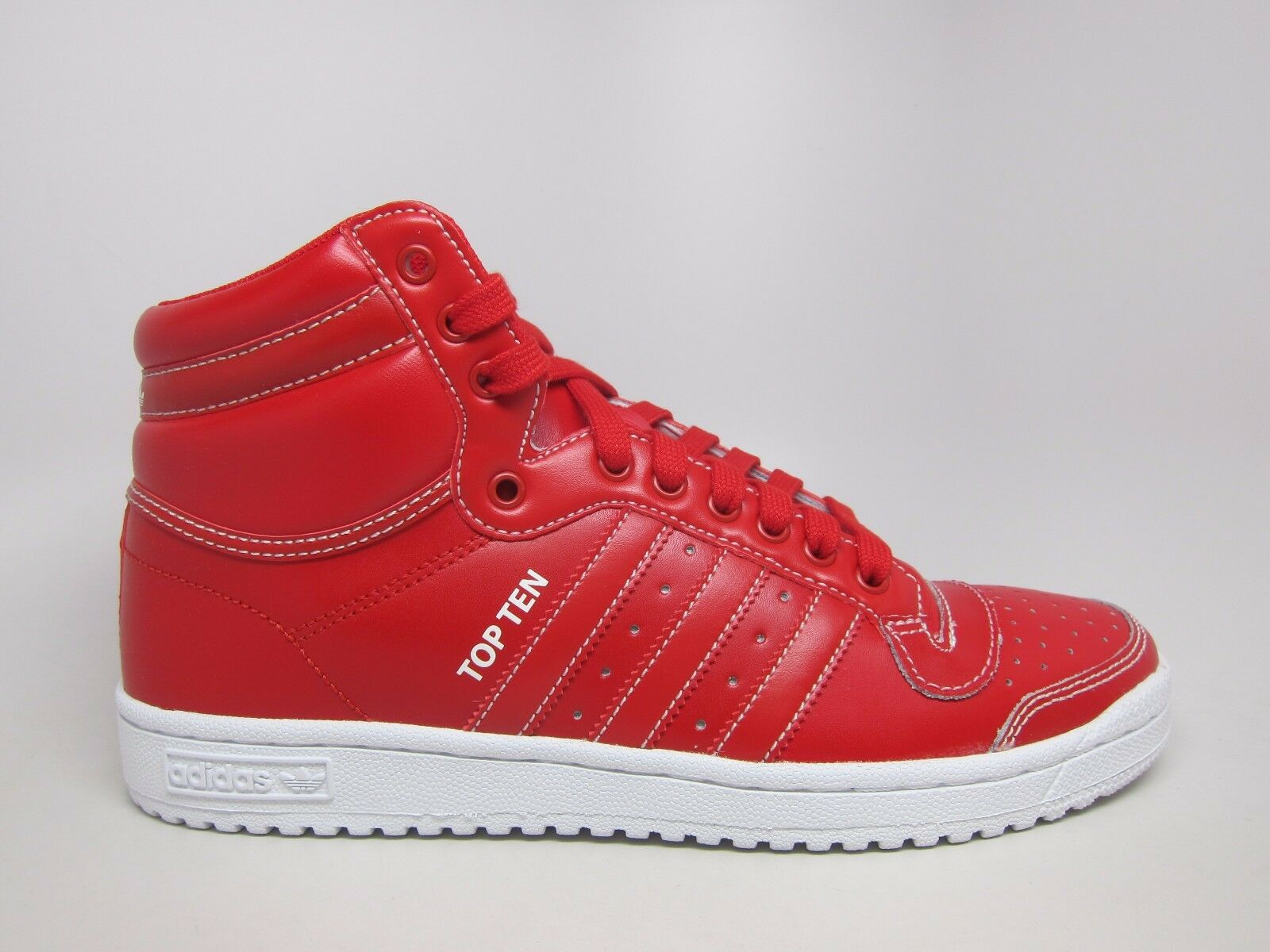 NEW MEN'S ADIDAS ORIGINALS TOP TEN HIGH SHOES  Price reduction  SCARLET//SCARLET-WHITE New shoes for men and women, limited time discount
