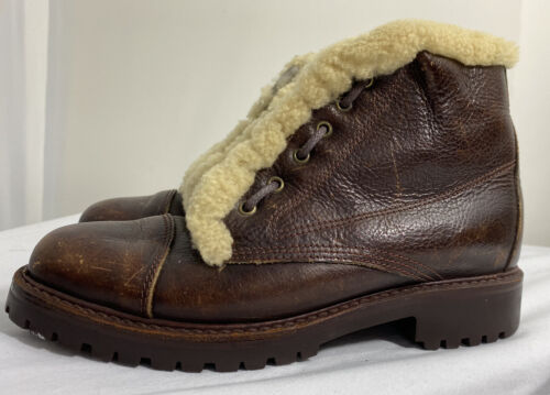 Ralph Lauren Polo Country Shearling Lined Brown Le