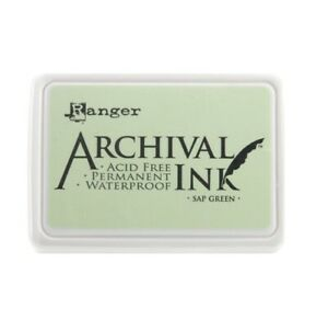 Ranger-Archical-Ink-Permanent-Waterproof-Ink-Pad-Sap-Green