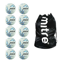 Sack Of 10 Mitre Intercept Netballs - Deal Of 10 Netball Training Balls Size 4 5
