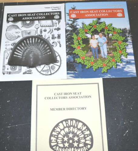 2011 2012 CAST IRON SEAT COLLECTORS MAGAZINES Paul & Shirley Kuecker