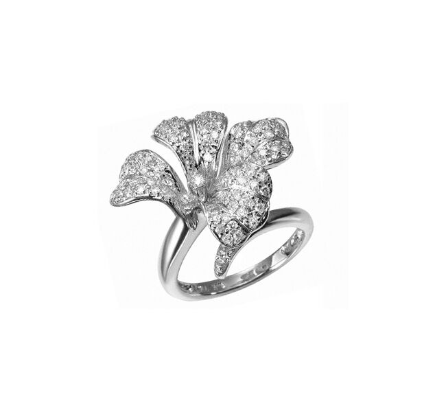 Ring 585er whitegold  Diamant  0,70 ct. Manufaktur Design Top Wesselton