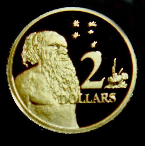 Australia PROOF 1993  $2 Aborigine /& Southern Cross