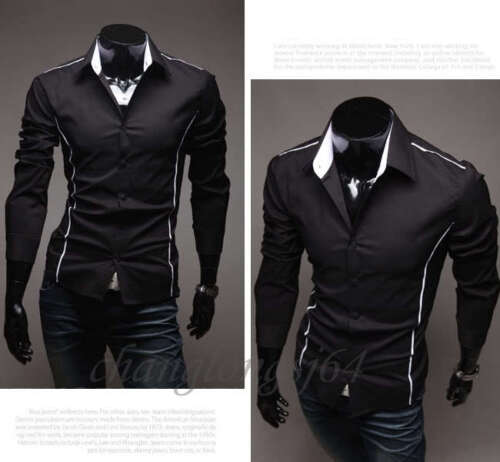 KCT79 New Mens Luxury Casual Slim Fit Stylish Dress Shirts 3 Colors