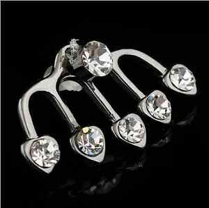 U-pick-1Pair-2pcs-Of-Earring-Cuff-Crystal-Stud-Wraps-Earrings-Pins