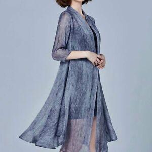Women-Lady-Chiffon-Sheer-Cardigan-Jacket-Coat-Loose-Long-Sun-Proof-Clothing-Tops