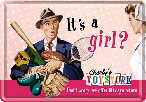 Charly´s Toystore Geburt es ist ein Mädchen Tochter # Nostalgic-Art It´s a Girl