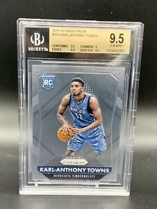 2015-Karl-Anthony-Towns-Rookie-Panini-Prizm-Gem-Mint-BGS-9-5-Benefits-Charity