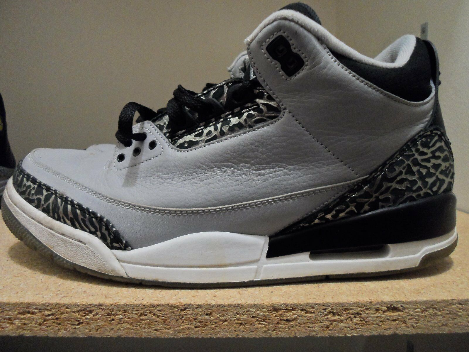 e47d499b70650 Nike Air Jordan Retro 3 III Wolfe Grey Black Men s Size Size Size 11.5  ce9410