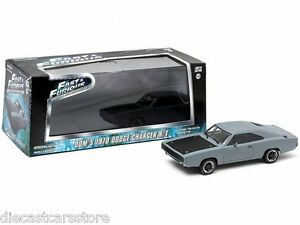 Di-DOM-Fast-And-Furious-2009-1970-Dodge-Charger-R-T-Grigio-1-43-Greenlight
