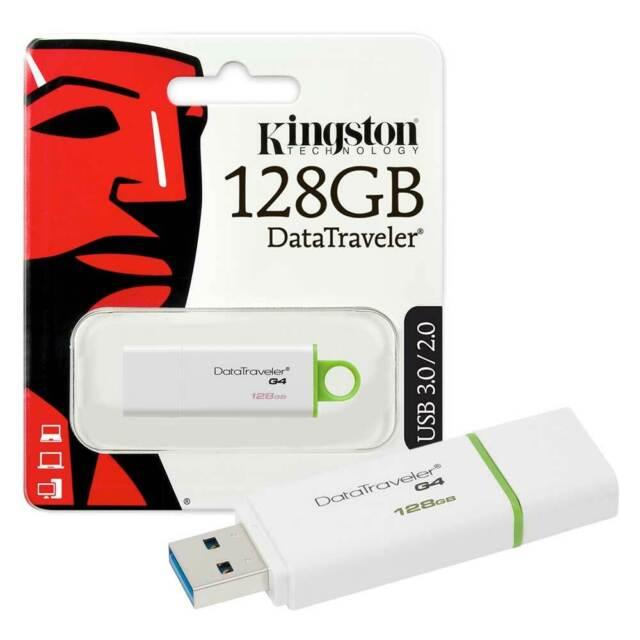 Kingston DataTraveler G4 USB 3.0 Flash Drive Memory Stick - 128GB