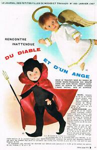 ▬►Page POUPÉE FRANÇOISE Modes et Travaux JANVIER 1953