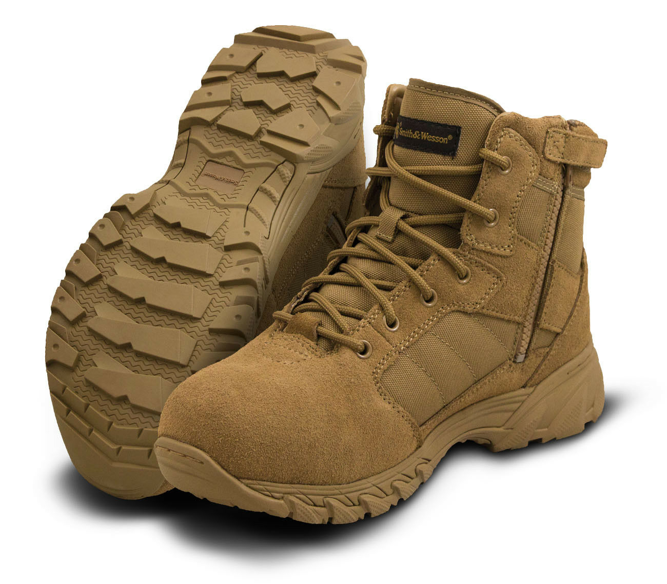 Smith & Wesson Breach 2.0 6  Side Zip Boot Coyote