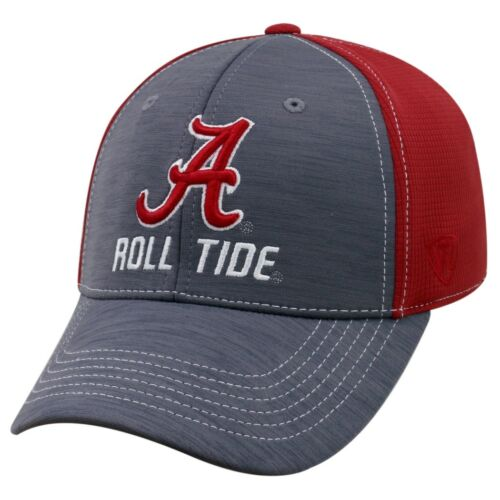 """Alabama Crimson Tide NCAA Top of the World /""""Upright/"""" Structured Mesh Hat"""