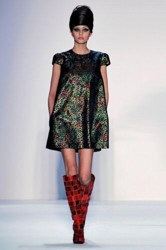 Ivana Helsinki Size 36 Metallic Dotted Shift Dress