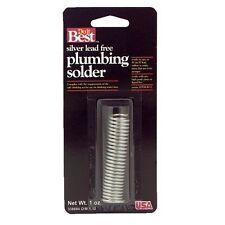 Silver Lead Free Plumbing Solder 0084 Gage 1 Oz Free Shipping