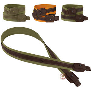 Shotgun-Rifle-Sling-Strap-Canvas-Leather-Stitched-Hunting-Shooting