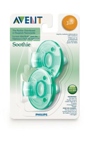 Philips AVENT Soothie Pacifier x2 Orthodontic Nipple BPA Free All Size Color