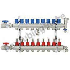 9 Branch Pex Radiant Floor Heating Manifold Set Brass For 38 12 58 Pex