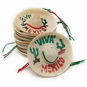 d17743d03 Details about Mini Mexican Sombrero Hats 12 Pack - Fiesta Decorations Cinco  De Mayo Tabletop