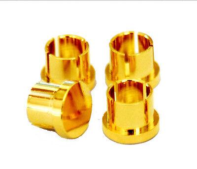 20 pcs Noise Stopper 24K Gold Plated Copper RCA Plug Caps EN002 USA Seller