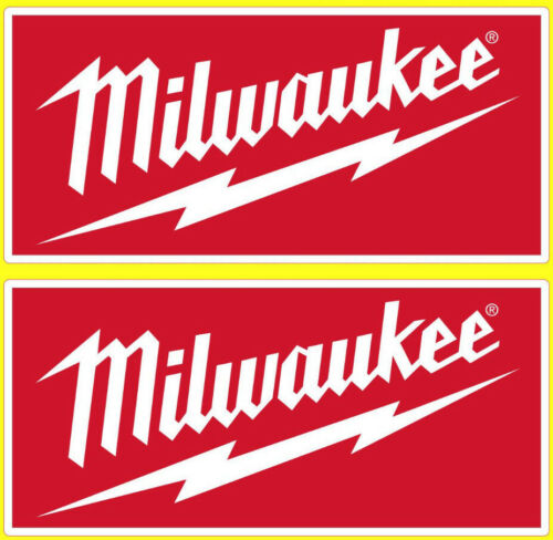 Laminated 2 Milwaukee tools stickers motorsport gp toolbox workshop car decals R
