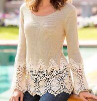 Boston Proper Boston Proper Chunky Crochet Sweater $89.99 Size Medium