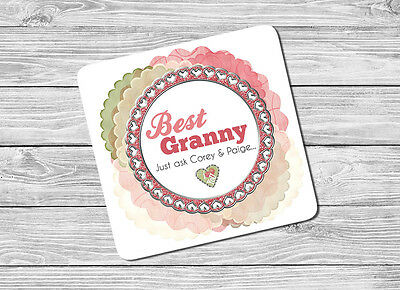 Christmas Gift. Personalised Best Granny Grandma Compact Mirror Birthday