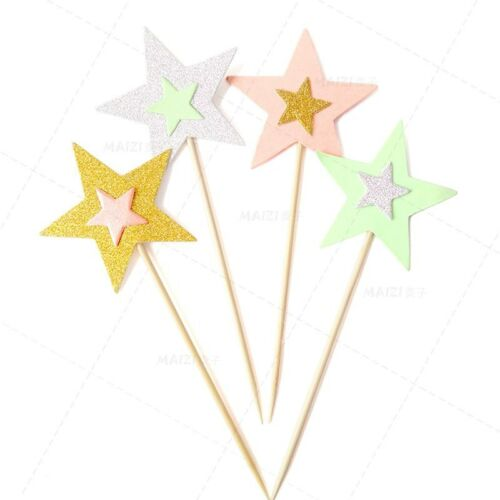 Twinkle Little Stars Cupcake Toppers Kids Birthday Party Decorations 10PCS//Lot