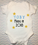 Personalised made born year 2018 new boy baby grow vest bodysuit baby shower